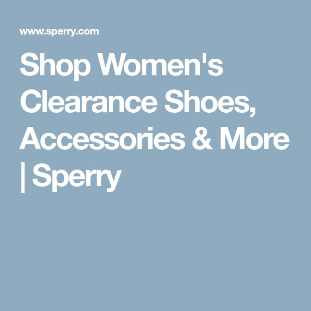 Shop Women's Clearance Shoes, Accessories & More | Sperry