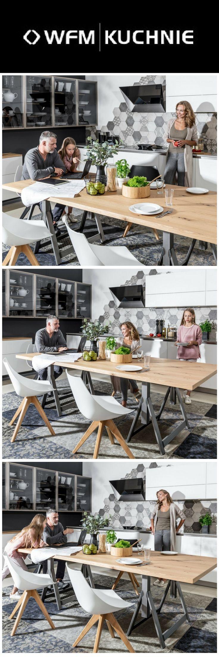 Kuchnia jako serce domu i miejsce spotkań domowników. Kuchnia marki WFM KUCHNIE. Program CALMA biały.