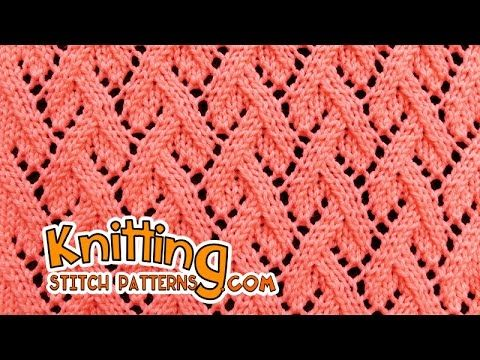 Grapevine stitch | Lace Knitting #23 - YouTube
