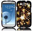 Samsung Galaxy S3 i9300 Design Snap On Case - Gold Stars