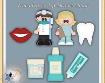 Imágenes Prediseñadas de dentista, cuando crezca