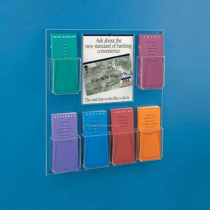 Brochure Holders Wall Mounted