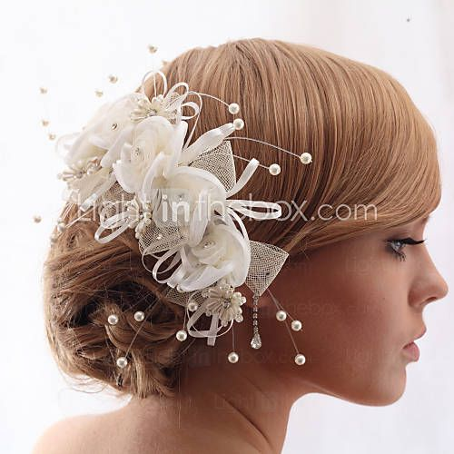 hoofddeksels mooi kristal garen met imitatie parels bruiloft / bruid hoofdtooi bloem 2016 – €15.67