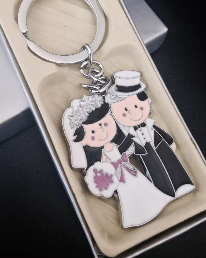 100PCS Wedding Keychains Favors Recuerdos De Boda Llaveros Bride And Groom Party #WeddingFavors
