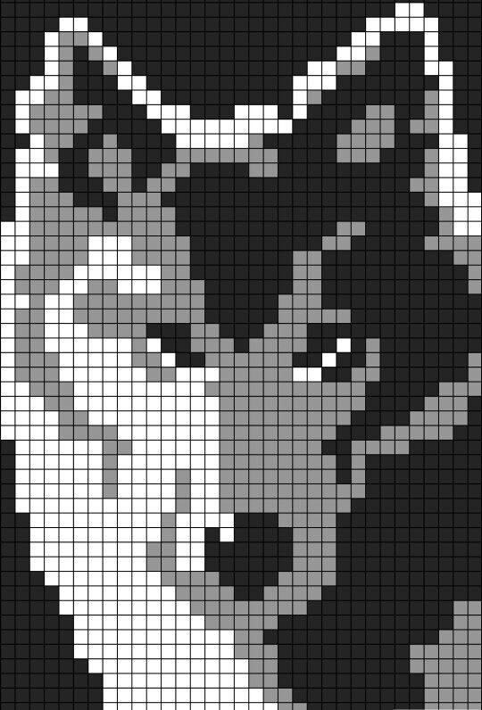 Wolf sprite grid