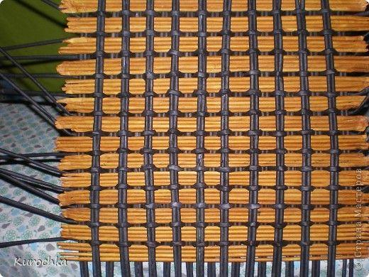 Мастер-класс Плетение: Плетение квадратного дна Бумага газетная. Фото 13