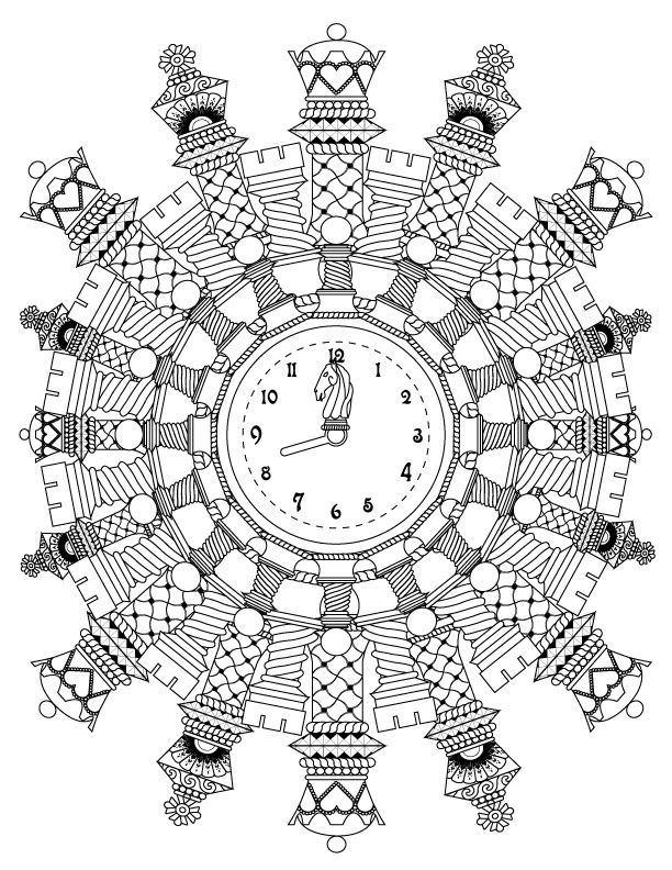 Chess Mandala Advanced Coloring Page For Adults Free Coloring Pages