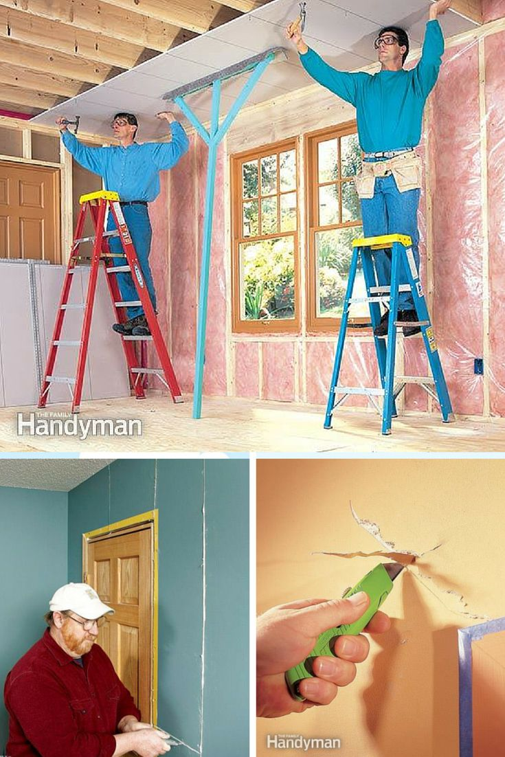 Featured skill: Learn How to Drywall - Learn how to install, tape and sand drywall yourself with these projects and professional tips. http://www.familyhandyman.com/drywall
