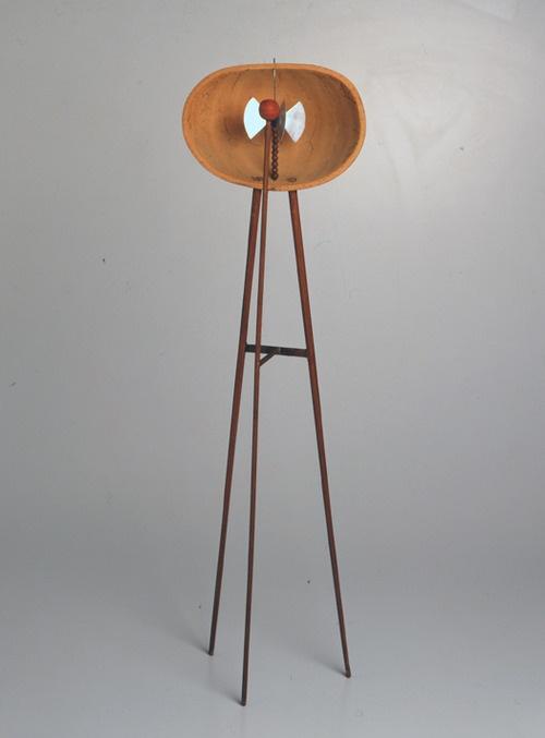 Bruno Munari (1907-1998), Useless Machine, 1934, Pumpkin shell, wooden rods and aluminium, 57 x 16 x 10 cm, Private collection.