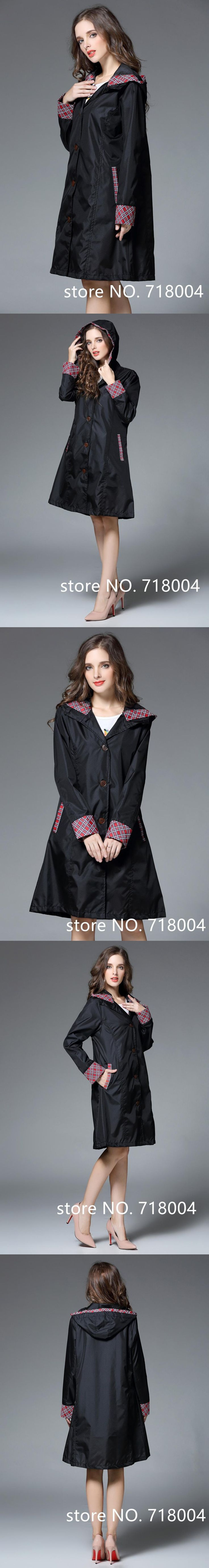 Knee Long Raincoat Women ,Waterproof Rain  Coat Ponchos Jackets Female capa de chuva Chubasqueros Impermeables Mujer