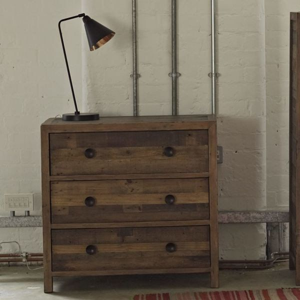 modish furniture. lifestyle standford reclaimed wood medium chest of drawers modish living industrial look furniture
