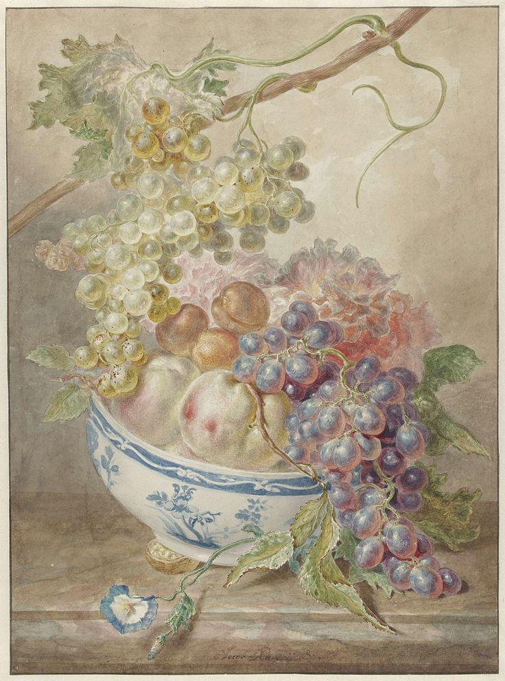 Schaal met fruit, Jacob Xavery, 1746 - 1769