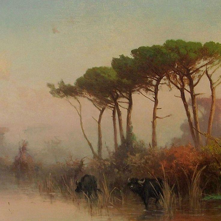 Henryk Cieszkowski  Pejzaż z Piniami [1884 r.]