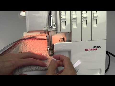 Bernina 800DL Serger 33 Serging a Zipper - YouTube