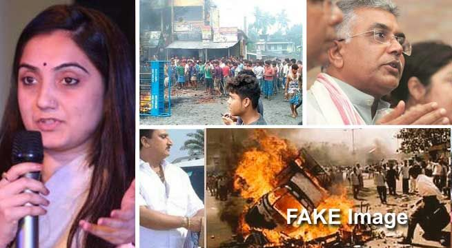 Kolkata : A complaint has been filed against BJP spokesperson Nupur Sharma with the Kolkata Police for using an evocative image to falsely depict the violence in West Bengal's North 24 Parganas district, when in actuality the photo was from the 2002 Gujarat riots. Two complaints were filed...