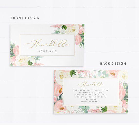 Editable Business Card Business Card Design Boutique Etsy Beautiful Business Card Card Design Business Card Design