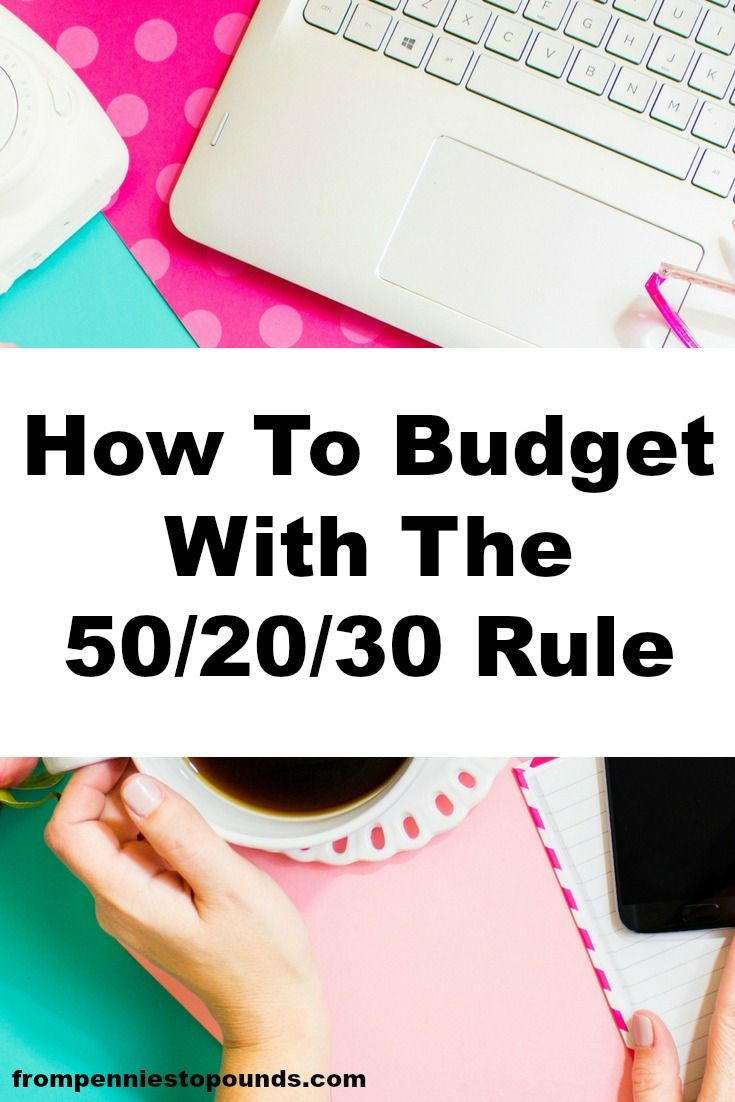 Budget with the 50/20/30 rule - it will help you stick to a great budget to reduce your expenses, save money and build your wealth. Get way to help you pay off debt. Read more here: http://www.frompenniestopounds.com/budget-502030-rule-sort-finances/