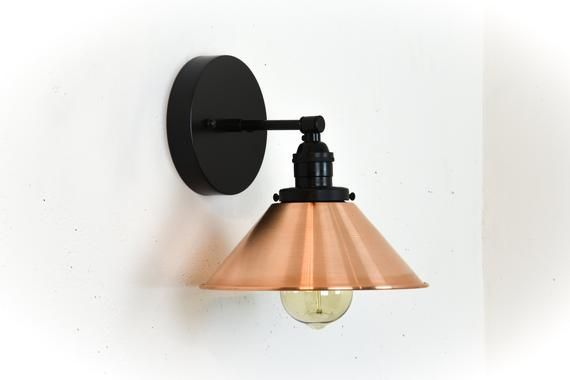 Industrial Wall Lamp Copper Wall Sconce Vanity Lights Etsy In 2020 Copper Wall Sconce Wall Sconces Bedroom Black Wall Sconce