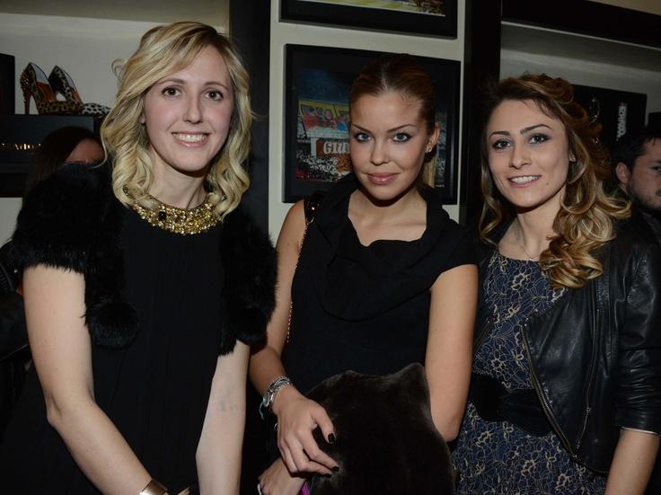 Elisa Airaghi, Costanza Caracciolo, Manuela Cappellini, No Words, Alexander Smith London, party, febbraio 2013, evento
