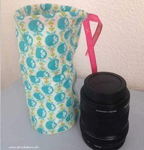 Mit dieser individuellen Tasche könnt ihr eure Kamera-Objektive schützen. http://www.strickstern.de/naehen/objektivbeutel-1214.html