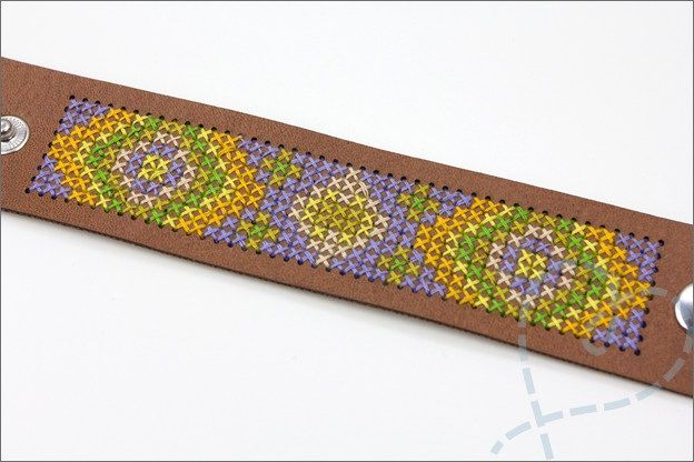 armband borduurgaren eindresultaat