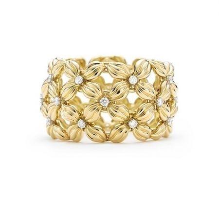 Bracciale+Daisy - Bracciali+Tiffany+pi%C3%B9+belli+di+sempre%3A+modello+largo+dal+design+originale+