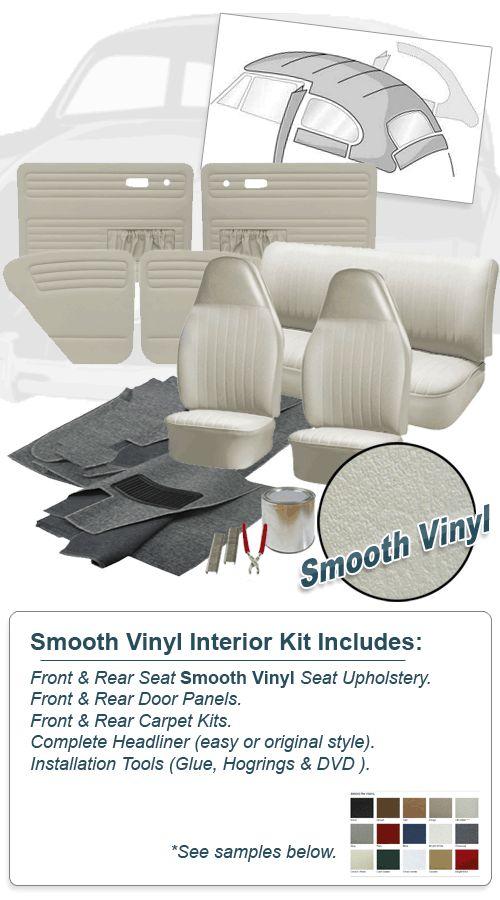 Deluxe Smooth Vinyl VW Interior Kit, Super Beetle Sedan 1973