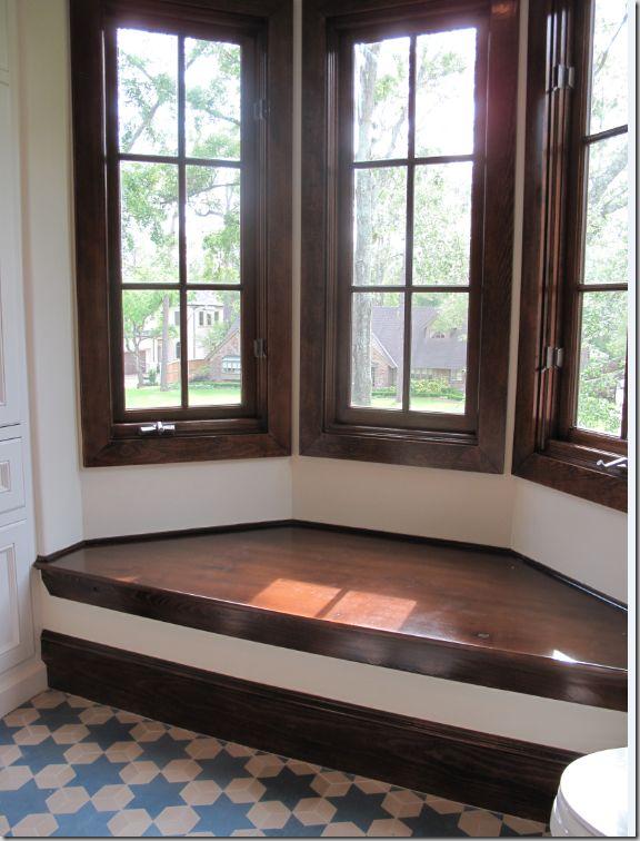 bay window seat cement tile floor diy pinterest