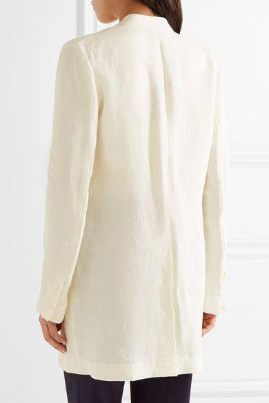 Theory - Winola Draped Linen Blazer - Ivory - US4