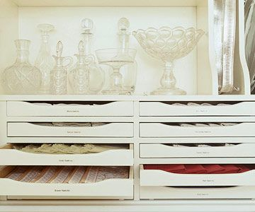 shallow drawers for linens