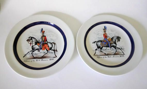 Wood And Sons Plates Officer Of 16th Lancers Officer Of 15th
