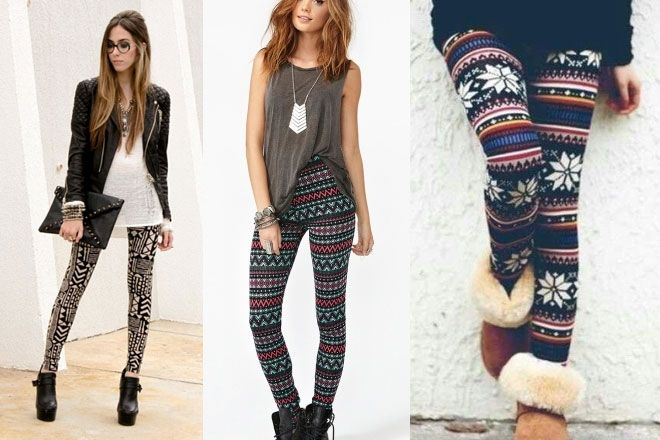 Cómo combinar leggins estampados