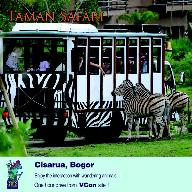 For a short break after #VIND12, visit Taman Safari!