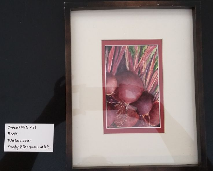"""Art for the month of March 2017, by Trudy Mills. """"Beets"""" done in watercolor."""