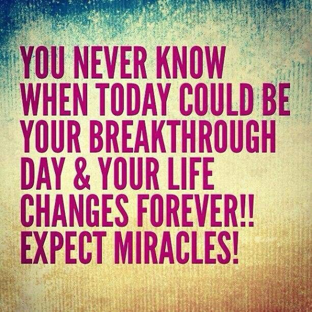 Miracles happen everyday - when we are open to receiving them!