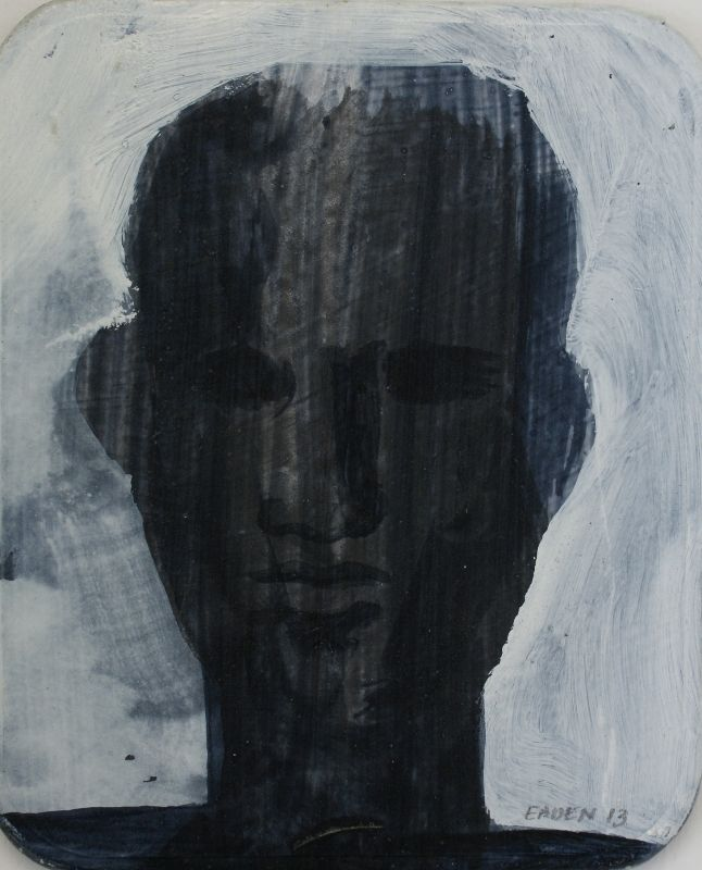 John Eaden - Untitled head, (acrylic on board) @ Visual Culture