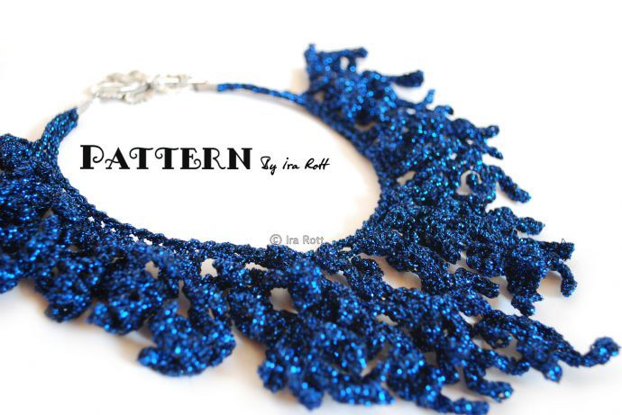 Collar crochet. Patrón.: Crochet Design, Crochet Necklaces Patterns, Crochet Pdf, Ira Rott, Free Patterns, Crochet Patterns, Pdf Patterns, Coral Reefs, Reefs Necklaces