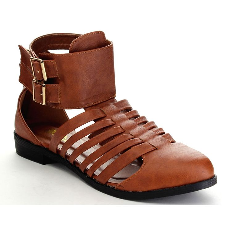 Athena Foxter-2 Women's Strappy Cut Out Back Zipper Ankle Booties