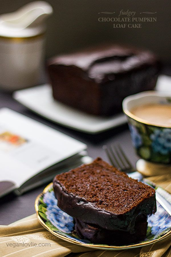 A fudgey vegan chocolate pumpkin loaf cake recipe that is decadent, easy to make…