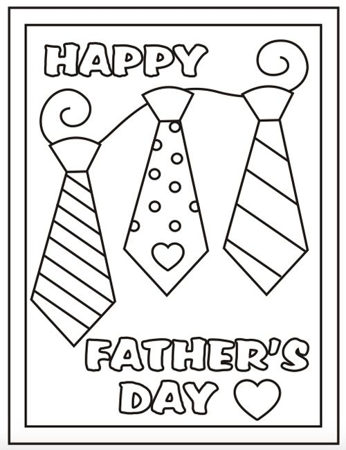 Free printable fathers day coloring sheets its in the cards