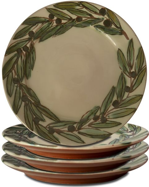 The ultimate set for a Mediterranean Country Style Tablescape are these Olives Handmade Ceramic Plates!  sc 1 st  Pinterest & 99 best Mediterranean Dinnerware - Olives images on Pinterest ...