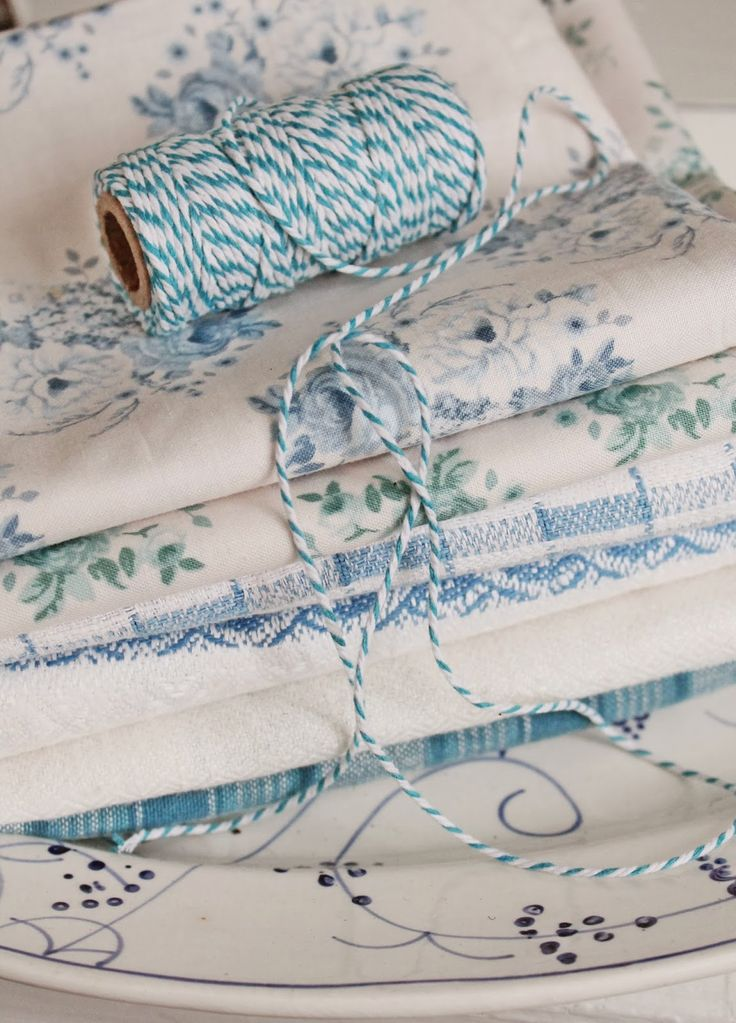 Linens ~ Blue and White