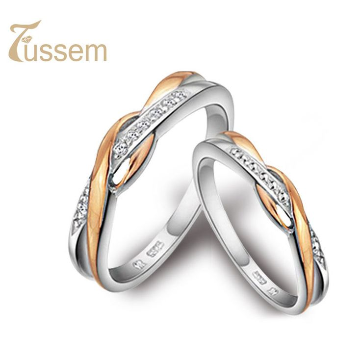 Fussem Pilotaxitic 925 Pure Silver Ring Women S Wedding Male Rose Gold Pinky