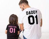 Papa papa's meisje vader dochter bijpassende shirts, papa papa's meisje vader dochter bijpassende T-shirts, 100% katoen Tee, UNISEX