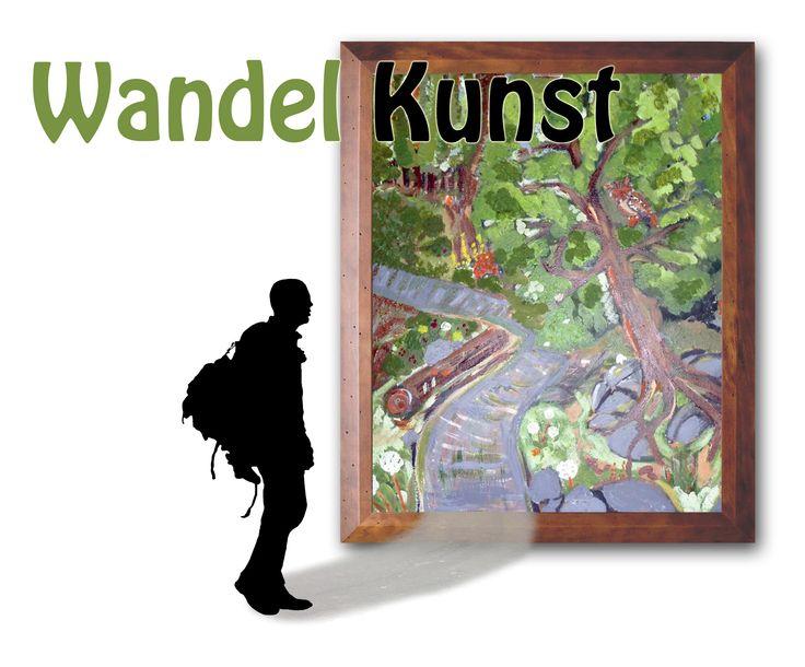 logo wandelkunst, de kunst van het wandelen