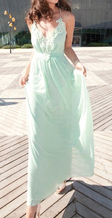 Mint Maxi Dress / gila lev