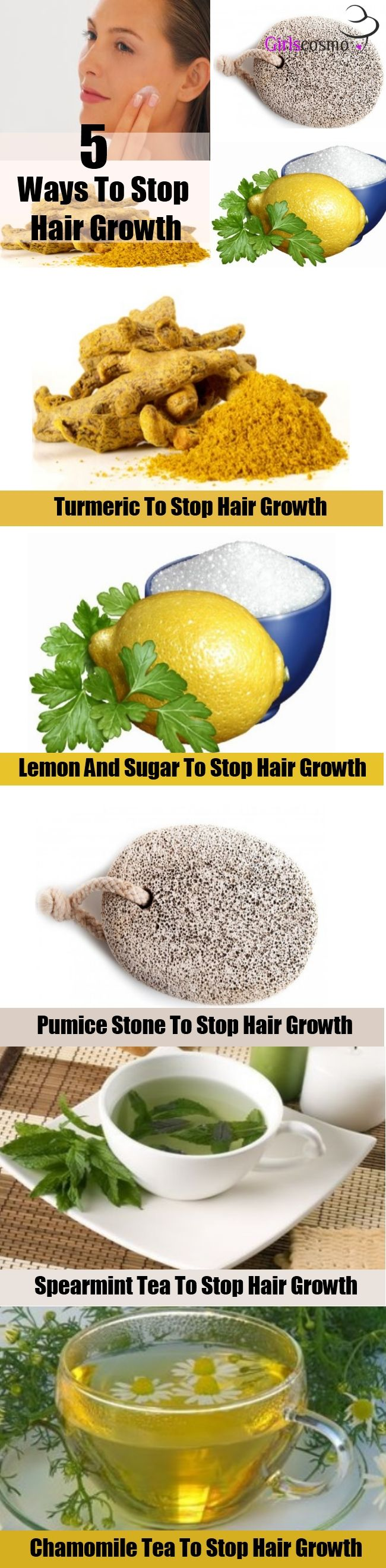 5 Natural Ways To Stop Hair Growth