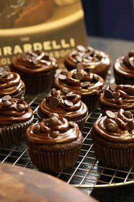 Cupcake de chocolate fácil