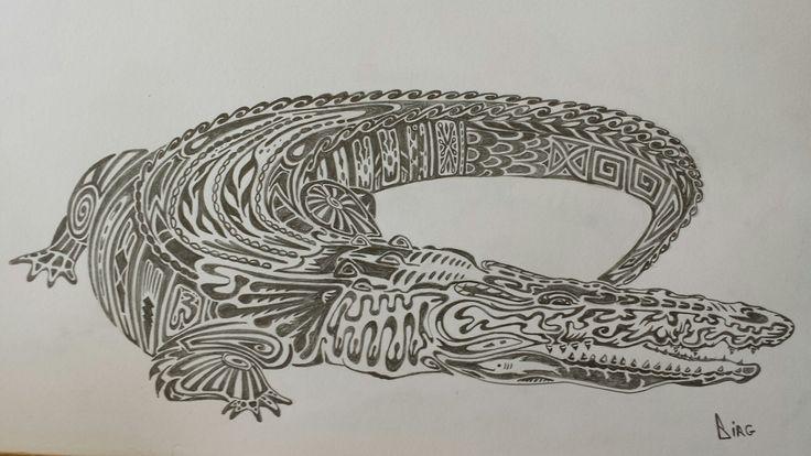 Крокодил. Карандаш
