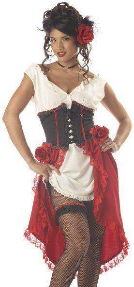 Sexy Womens Western Saloon Girl Adult Halloween Costume